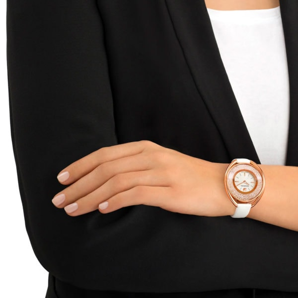 Crystalline Oval Gold-Tone Watch 4