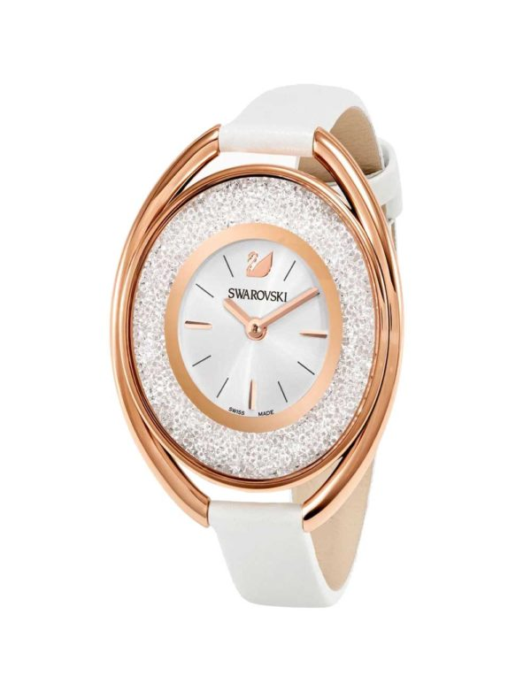 Crystalline Oval Gold-Tone Watch 5
