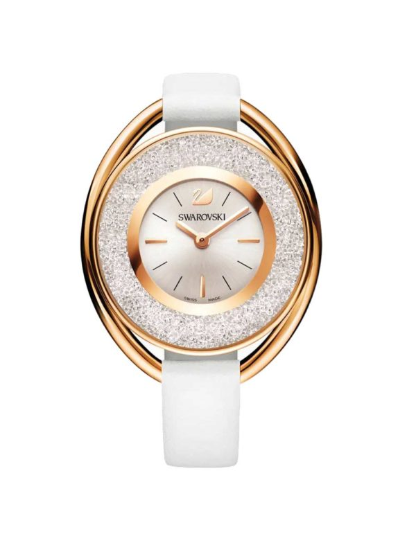 Crystalline Oval Gold-Tone Watch 3