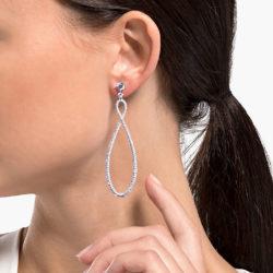 Swarovski Infinity Hoop Pierced Earrings 6